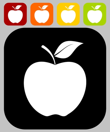 mature adult: Apple icon - illustration Illustration