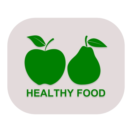 dietary fiber: Healthy Food Pear and apple - illustration