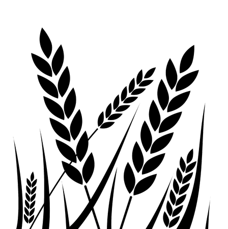 clip art wheat: Agricultural - wheat icon - Illustration
