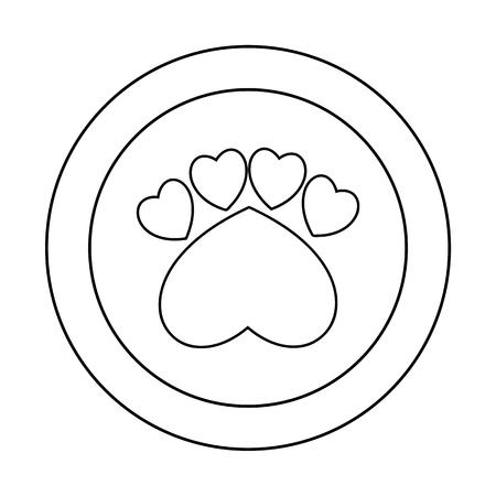 undomesticated cat: Paw sign - illustration