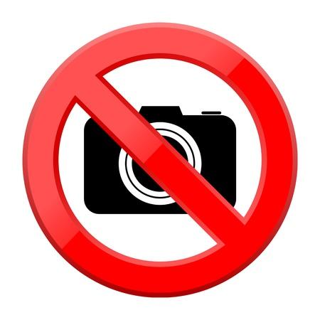 use regulation: No photo camera sign Illustration