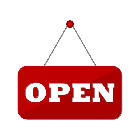 open sign: Open Sign - Illustration