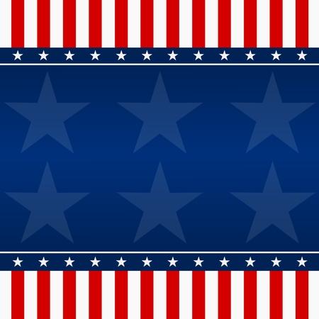 allegory painting: USA Flag background - Illustration