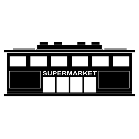 downtown district: Supermarket black icon