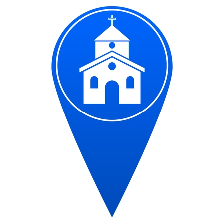 reference point: Church Map Pointer - Illustration