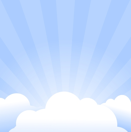 Sky with clouds and Sun - Illustration