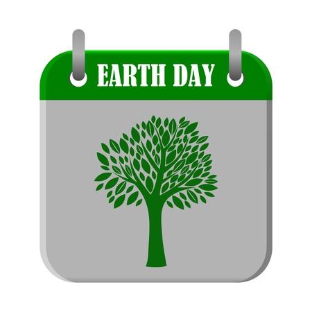 earth day: Calendar Earth Day - illustration