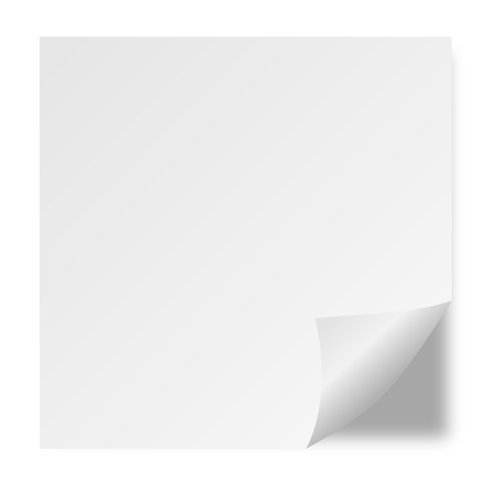 page curl: White Page Curl - Illustration