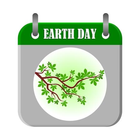 earth day: Earth Day Calendar - illustration Illustration