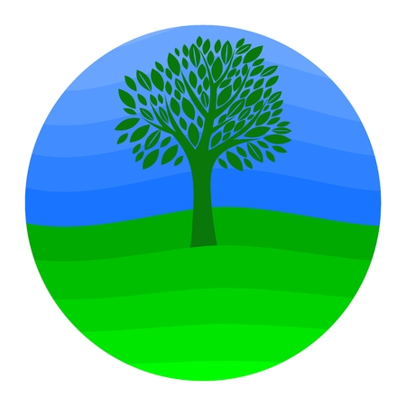 earth day: Earth Day Tree - illustration