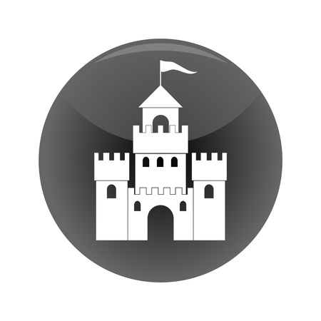 midsection: Castle black icon - illustration