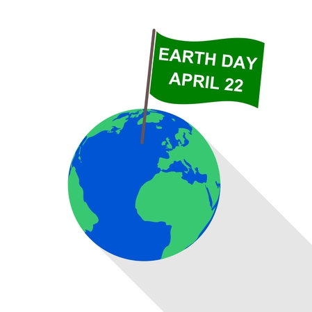 physical geography: Flag Earth Day - Illustration