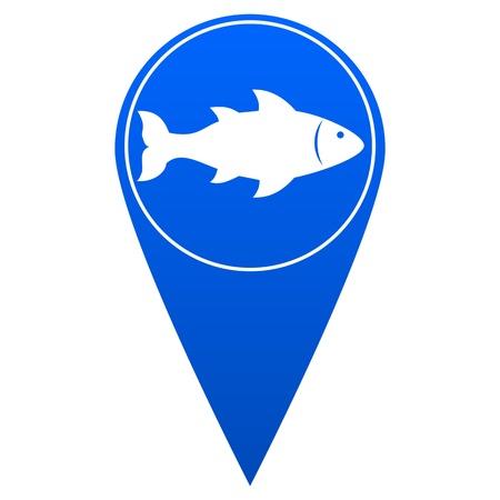 straight pin: Fishing Location - Illustration