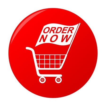 disbelief: Order Now Red Sticker Shopping Cart