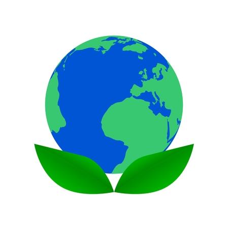 Earth Day Leaf Icon - Illustration