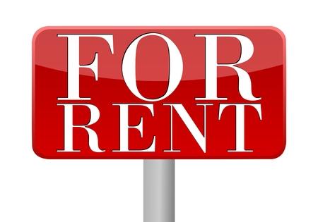for rent sign: For Rent Sign - Illustration Illustration