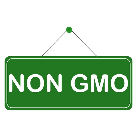 non: Non GMO Sign - illustration Illustration