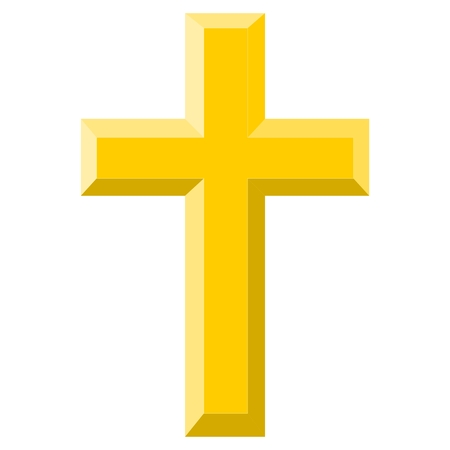 gold cross: Gold Cross - illustration