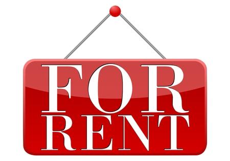 rent: For Rent Sign - Illustration Illustration