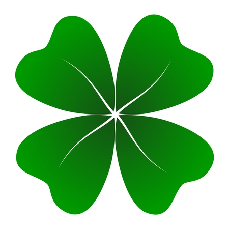 four objects: Four Leaf Clover - Illustration
