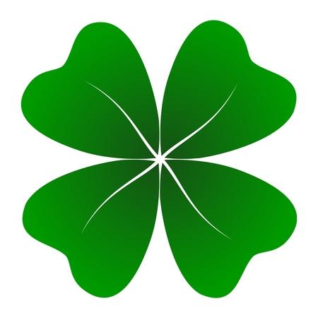 four objects: Four Leaf Clover - Illustration