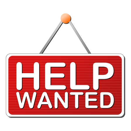 help wanted: Help Wanted Sign - Illustration