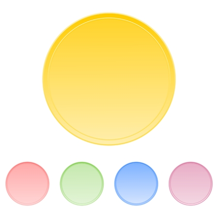 double page: Color circle buttons - Illustration