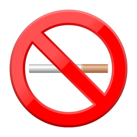 tobacco product: No Smoking Symbol - Illustration
