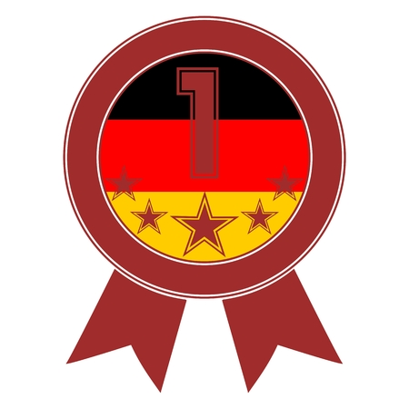 designation: Brown Number 1 with five stars and the German flag
