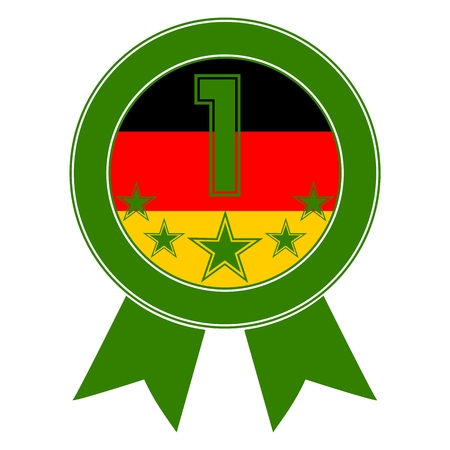 designation: Green Number 1 with five stars and the German flag