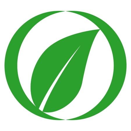 zen like: Agriculture icon leaf - Illustration
