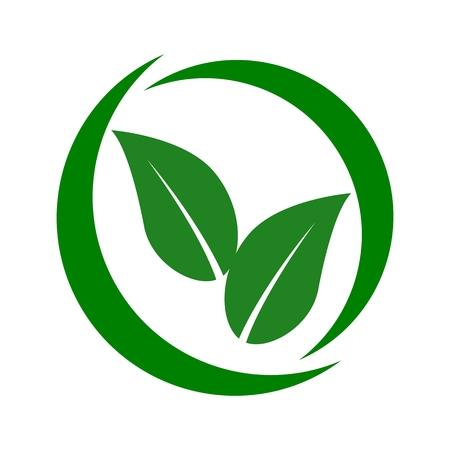 Simple leaf circle - Illustration