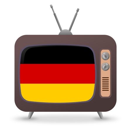 old tv: Germany Flag Old Tv