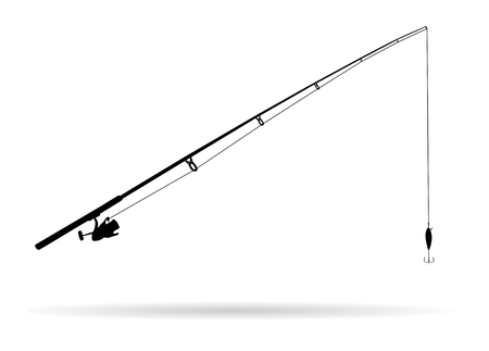 Fishing rod - Illustration Stock Illustratie