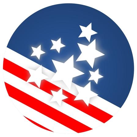 circa: American flag Abstract - illustration