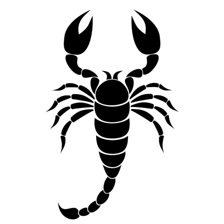 deadly danger sign: Scorpion Silhouette - illustration Illustration