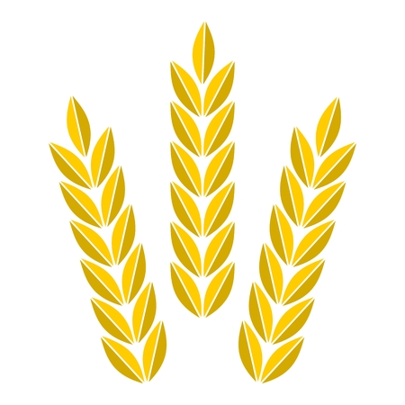 agro: Agriculture icon golden wheat