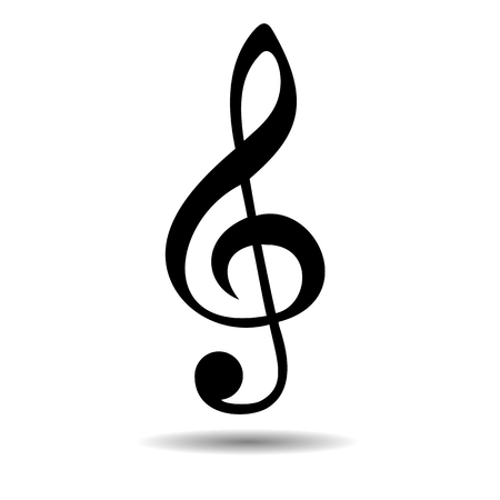 Treble Clef Black - illustration