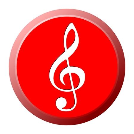 festival scales: Treble Clef Button - illustration
