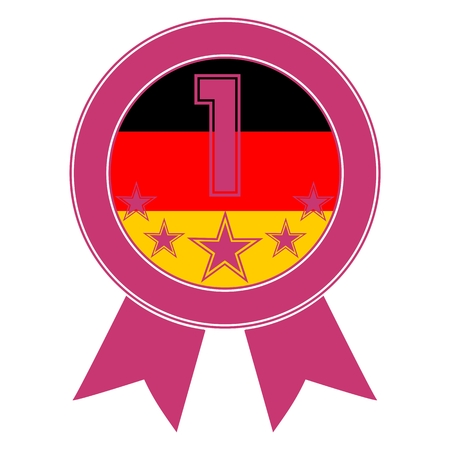 designation: Pink Number 1 with five stars and the German flag