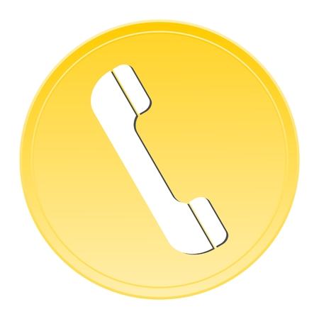 phone button: Phone Gold button Illustration
