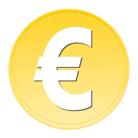 euro sign: Euro Sign Button