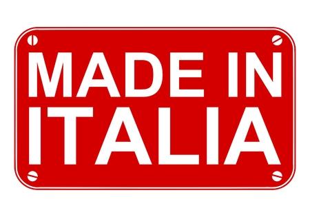 italia: Made in Italia sign Illustration