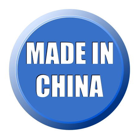 chine: Made in Chine button Illustration