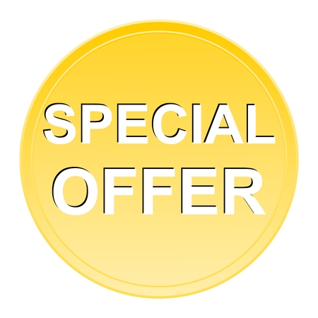 ed: Special Offer gold button Illustration