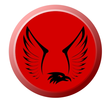 swooping: Eagle Button Illustration