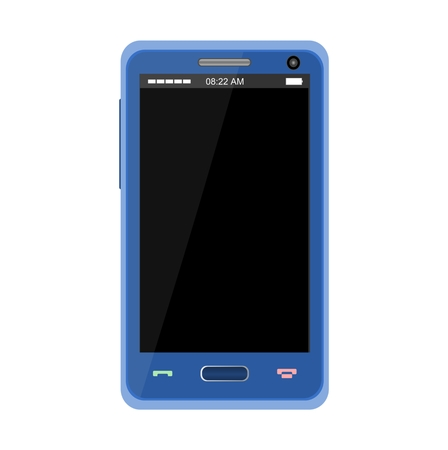 realistically: Realistic Blue Mobile Phone