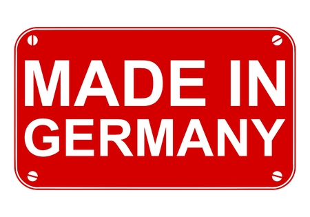 made in germany: Made in Germany sign