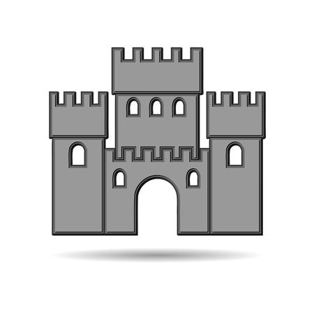 Castle Icon 3d