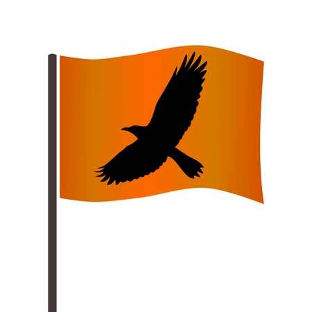corvus: Crow on the flag